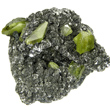 Green Titanite on Clinochlore Matrix