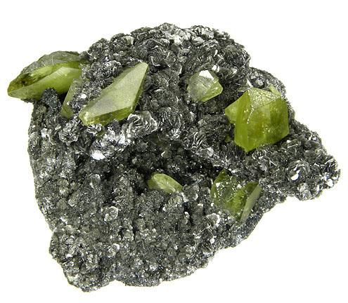 Green Titanite on Clinochlore Matrix