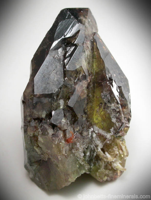 Twinned Transparent Brown Titanite