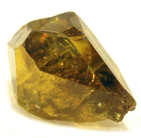 Yellow Twinned Titanite