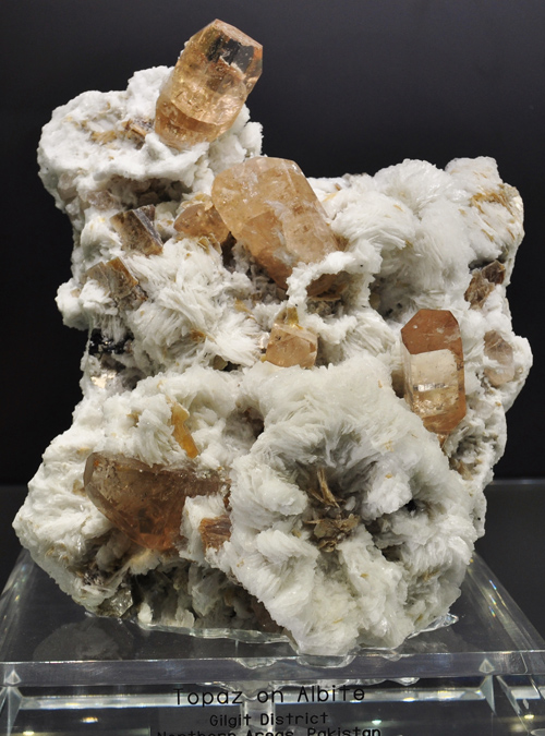 Topaz on Albite from Gilgit District, Northern Areas, Pakistan