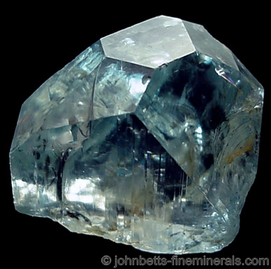 Classic Blue Russian Topaz from Ural Mountains (Probably Mursinka), Russia