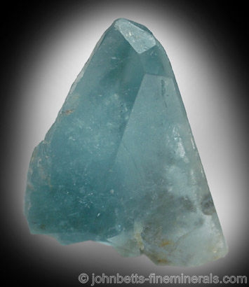 Pyramidal Sky Blue Topaz from St. Anne's Mine, Miami, Zimbabwe
