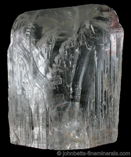 Large White Topaz Crystal from Tres Barras Mine, Teofilo Otoni, Minas Gerais, Brazil