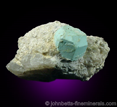 Turquoise Pseudomorph After Beryl