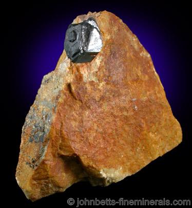 Uraninite Crystal in Matrix