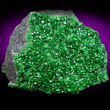 Uvarovite Crystals Coating Matrix