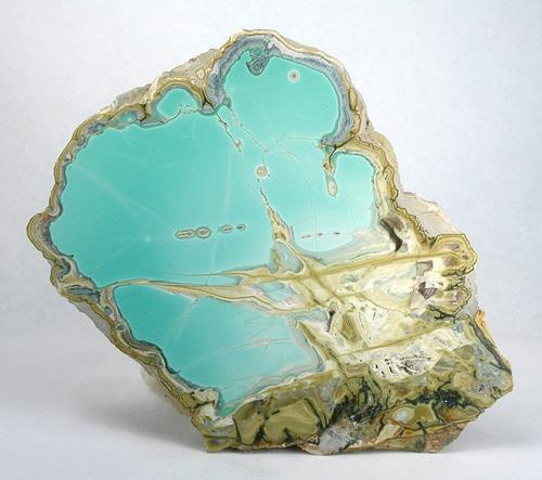 Turquoise-Blue Variscite Slice