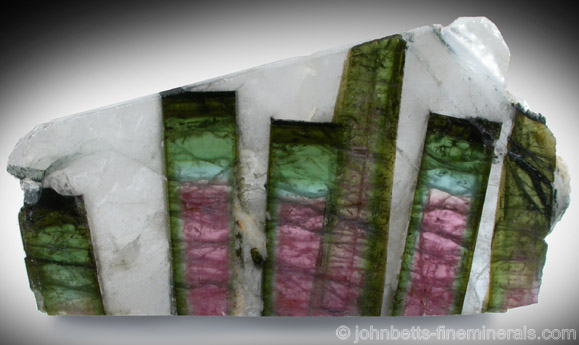 Elbaite Slice in Matrix