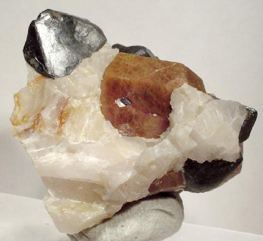 Willemite and Franklinite Crystals