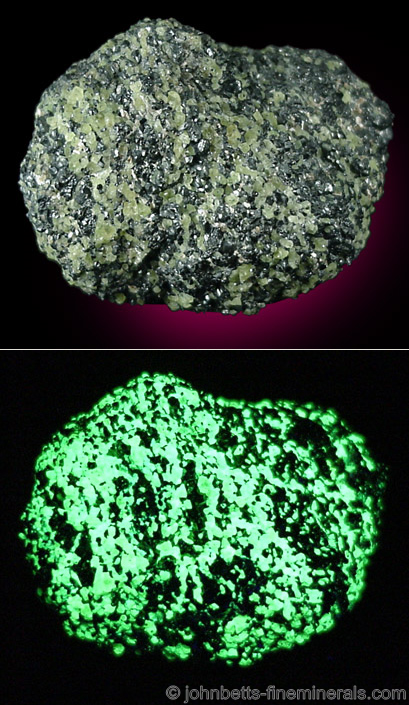 Green Willemite with Franklinite