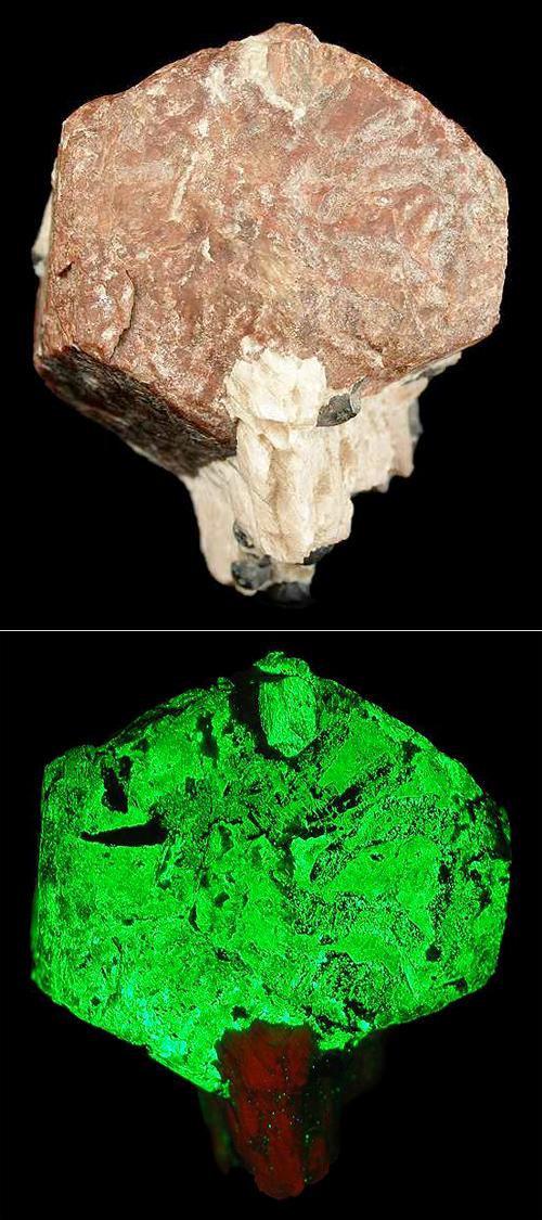 Large Hexagonal Willemite Crystal
