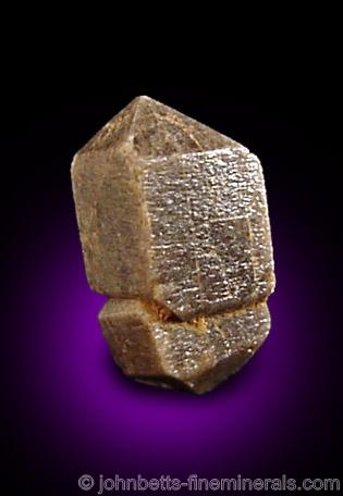 Doubly Terminated Gray Zircon Crystal