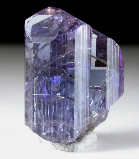 Purplish-Blue Tanzanite Crystal