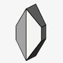 Tabular Non-Twinned Individual Crystal