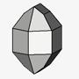 Hexagonal with pyramidal prisms