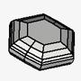 Flat Tabular Hexagonal Disc